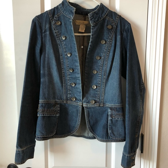 Jean jacket military style
